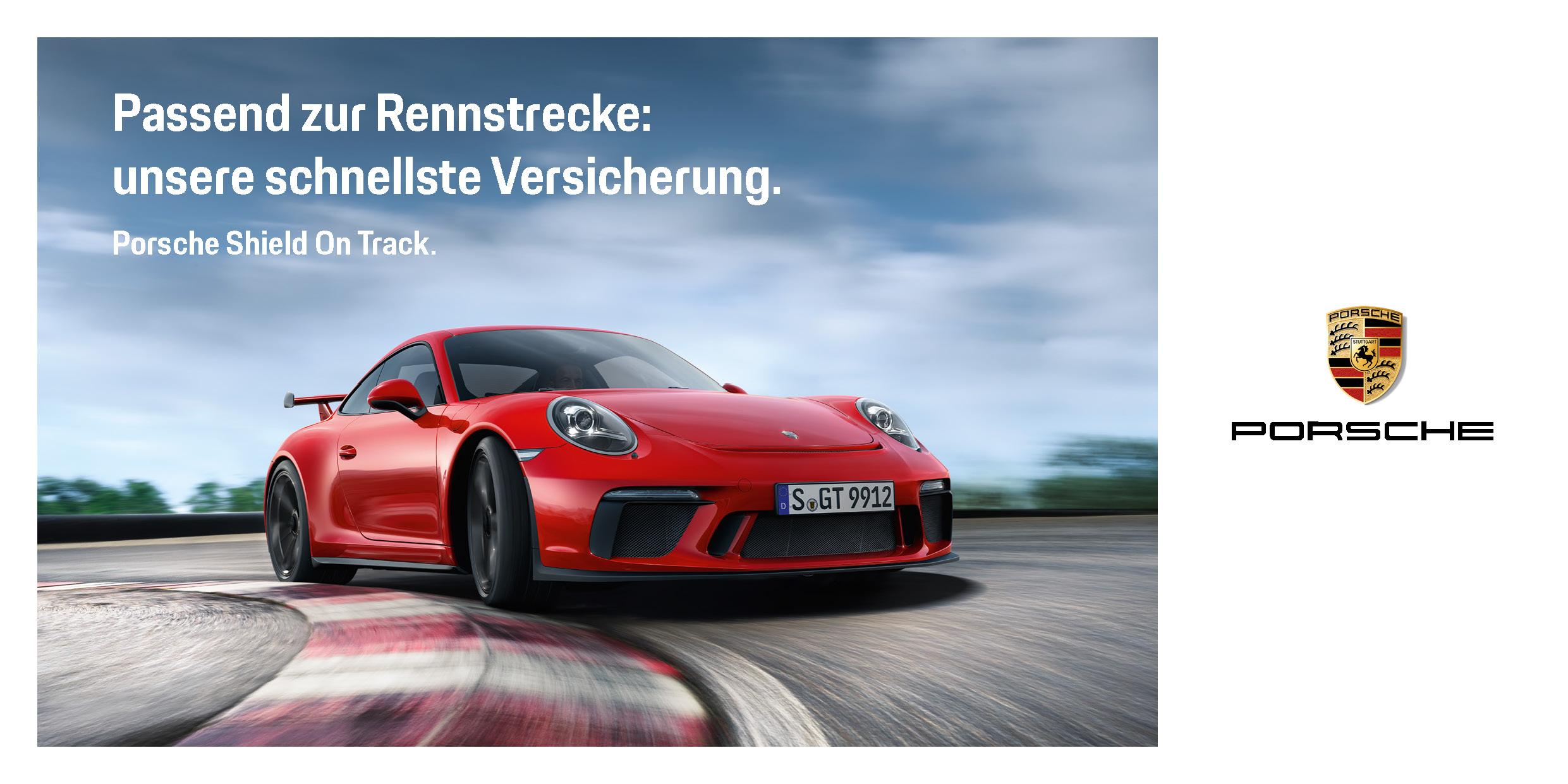 Porsche Shield On Track